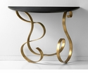 Ribbon Golden Iron Console Table by Cyan Design