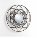 Robles Iron Decorative Wall Mirror by Cyan Design