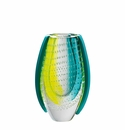 Rosenthal Turquoise and Yellow 8.5 inch Dewdrop Vase