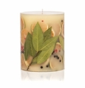 """Rosy Rings Bay Garland 5"""" Tall Round Botanical Candle"""