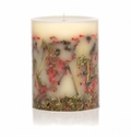 """Rosy Rings Red Currant & Cranberry 9"""" Tall Big Round Botanical Candle"""