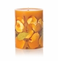 """Rosy Rings Spicy Apple 9.5"""" Tall Big Round Botanical Candle"""