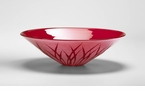 Rouge Red Art Glass Plate by Cyan Design