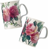 Roy Kirkham English Rose (Lancaster) Mug Pair -  Made in England