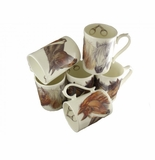 Roy Kirkham Horse Heads Victoria Mugs (Set of 3)