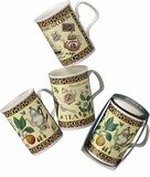 Roy Kirkham TEA Design (Lancaster) Set of Three Assorted English Bone China Mugs