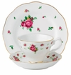 Royal Albert 3-Piece Set (Teacup, Saucer & Plate) New Country Roses White