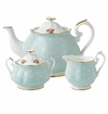 Royal Albert 3-Piece Set (Teapot, Sugar & Creamer) Polka Rose
