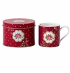 Royal Albert Mug In A Tin New Country Roses White/Burgundy