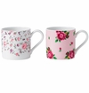Royal Albert Mugs Set/2 Rose Confetti & New Country Roses Pink