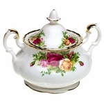 Royal Albert Old Country Roses Covered Sugar Bowl 11 oz
