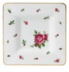 Royal Albert Square Trinket Tray New Country Roses White