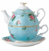 Royal Albert Tea For One Polka Blue