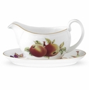 Royal Worcester Evesham Gold 14 Ounce Sauceboat & Stand