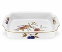 Royal Worcester Evesham Gold Rectangular Handled Baking Dish