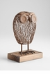 Rustic Wise Owl Sculpture by Cyan Design