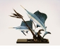 Sailfish Going After Ballyhoo Sculpture by SPI Home