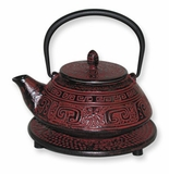 Sienna Tetsubin Cast Iron Teapot 13 oz with Infuser & Trivet