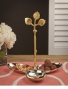 Silver & Brass Grape Leaf 3 Part Server Home Decor