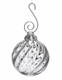 Simon Pearce Corinth Twist Glass Bauble Ornament