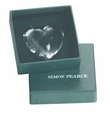 Simon Pearce Glass Highgate Heart Paperweight Small Boxed
