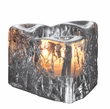 Simon Pearce Glass Silver Lake Triangle Tealight