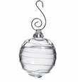 Simon Pearce Spiral Glass Bauble Ornament