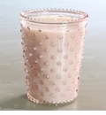 Simpatico Hobnail Glass Candle - 16 oz Honeysuckle