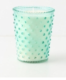 Simpatico Hobnail Glass Candle - 16 Oz Marine