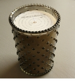 Simpatico Hobnail Glass Candle - 16 oz Meringue