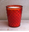 Simpatico Hobnail Glass Candle - 16 oz Poppy