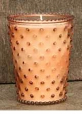 Simpatico Hobnail Glass Candle - 16 oz Sweet Almond