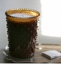 Simpatico Hobnail Glass Candle - 16 oz Tea