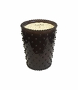 Simpatico Home Espresso Hobnail Glass Candle 16 Oz.
