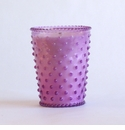 Simpatico Home Lilac Hobnail Glass Candle 16Oz