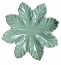 "Skyros Designs Leaf Collection Leaf Plate 11.5"" - Sea Foam"