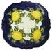 "Skyros Designs Mediterranean Square Dinner Plate 10.75"" x 10.75"" - Blue Lemon"