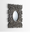 Slate Scroll Ceramic Wall Mirror by Cyan Design