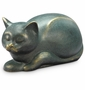 Sleepy Cat with Bluetooth Speaker Sculpture by SPI Home