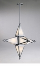Small 6 Light Star Chrome Pendant Light by Cyan Design