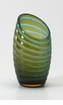 Small Angle Cut Green Glass Vase by Cyan Design