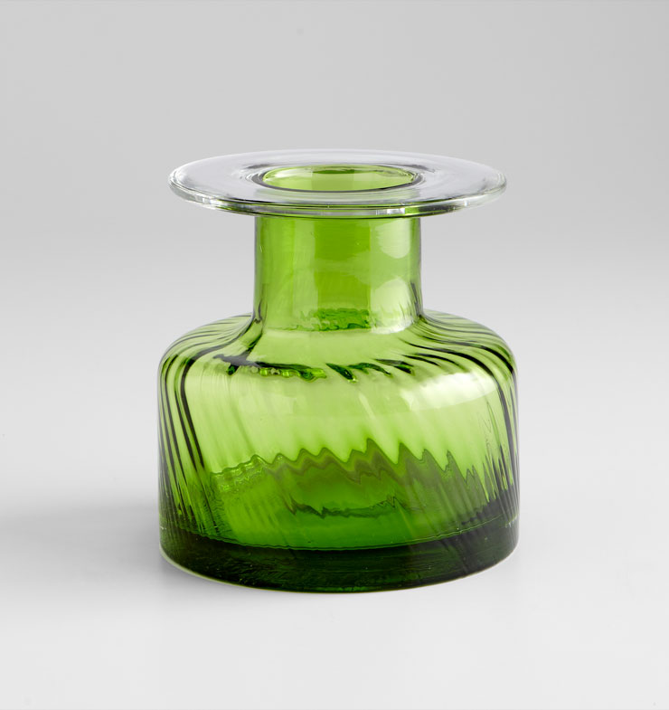 Small Apothecary Green Glass Vase by Cyan Design