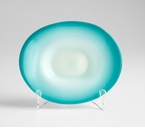 Small Blue Glass Plate by Cyan Design