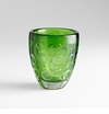 Small Brin Emerald Glass Vase by Cyan Design