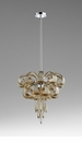 Small Curled Glass Chandelier by Cyan Design