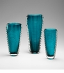 Small Dollie Blue Glass Vase by Cyan Design