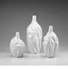 Small Glacier White Resin Vase by Cyan Design