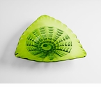 Small Green Art Glass Plate - Leafy Echo by Cyan Design