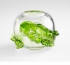 Small Green Glass Leaf Vase by Cyan Design