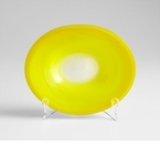 Small Yellow Celebration Glass Plate by Cyan Design